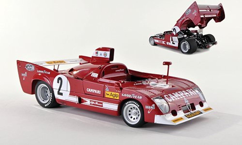 Alfa Romeo 33 TT 12, No.2, Campari, 1000km Spa Francorchamps , 1975, Modellauto, Fertigmodell, AUTOart 1 18