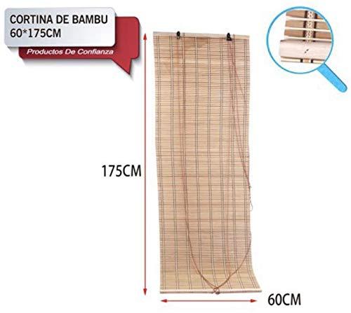 LEYENDAS Estores de Bambú Cortina de Madera Persiana Enrollable (60_x_175_cm)