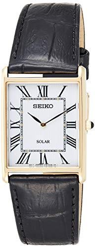 Seiko Orologio Analogico Solare Uomo con Cinturino in Pelle SUP880P1