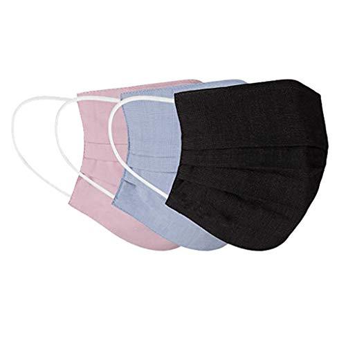 3 Stück Ewachsene Mundschutz Motiv Waschbar Wiederverwendbar Baumwolle Mund und Nasen Schutz und Nasenschutz Halstuch Atmungsaktive Staubdicht Multifunktional Gesichtsschutzschild