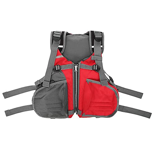 LIMESI Chaleco Salvavidas de Reflexivo Chaleco de Flotabilidad para Adultos Chaleco de Seguridad de Ayuda a la Flotabilidad de Kayak Chaleco de Kayak Deportivos Acuáticos - Rojo