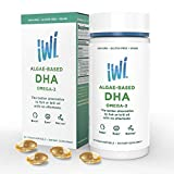 iwi Omega 3 Oil DHA - Doctor Recommended Algae Oil Soft Gel Capsules - 30 Day Supply - Better Absorption, 100% Vegan, Non GMO - Healthier Than Fish Oil - Supports Brain, Cognitive and Visual Health.