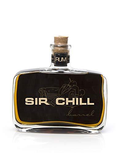 SIR CHILL Barrel Rum, belgischer Premium Rum mit feinem Tabak Aroma, handcrafted Ron, Aperitif, Digestif & für Cocktails, 37,78%, 0,5l