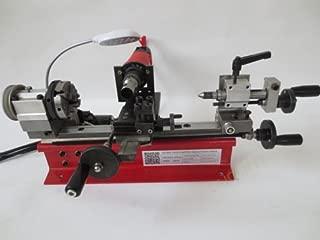 220V 4 Jaw chuck Dual Motor Desktop Mini Lathe Bead Lathe Machine 80mm 400W