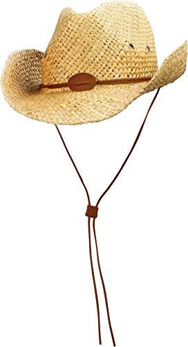 normani Cowboy Strohhut aus 100% natürlichem Stroh Farbe ZVintage Größe 55-57