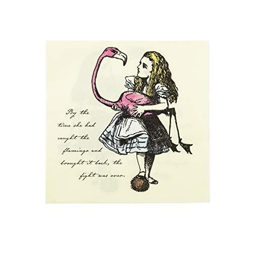 Talking Tables servilletas con detalles flores rosa y Alice en el país...