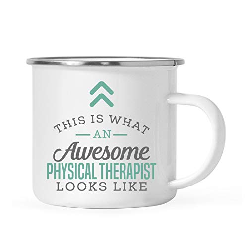 Andaz Press 11oz. Stainless Steel Campfire Coffee Mug Gift, This is What an Awesome Physical Therapist Looks Like, 1-Pack, Birthday Gift Ideas Coworker Him Her, Includes Gift Box