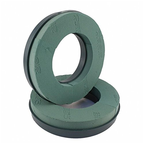 2 x Oasis Foam Rings with Plastic Backed Naylorbase Wreath Ring - 10' 12' 14' (10' Oasis Ring x 2 - Naylorbase)