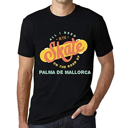 Hombre Camiseta Vintage T-Shirt Gráfico On The Road of Palma de Mallorca Negro Profundo