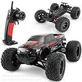 s-idee® 9115 rot RC Auto Buggy wasserdichter Monstertruck 1:12 mit 2,4 GHz über 40 km/h schnell wendig voll proportional 2WD 1/12 Ferngesteuerter Buggy Racing Auto