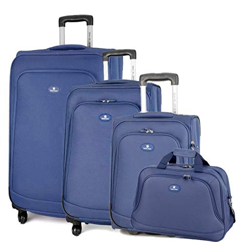 David Jones - Set de 3 Valises Souples 4 Roues + 1 Sac Voyage - Lot...