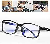 SCOBUTY Occhiali Filtro,Occhiali da Computer,Anti Bagliore,Anti Affaticamento degli Che Bloccano La Luce Occhiali da Gioco Donna Uomo Occhiali da Vista Blu