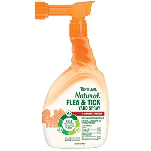 TropiClean Natural Flea & Tick Yard Spray, 32oz - Made in USA
