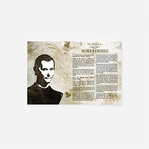 // TPCK // La Saggezza di Niccolo Machiavelli - Stampa Fotografica Regalo Motivazione - Il Principe Arte della Guerra MMA BJJ Wisdom - Dimensioni: 15 x 10 cm