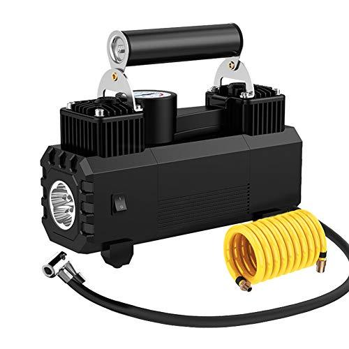 Pompe à air de voiture de CAPTIANKN, gonfleur de pneu de Digitals mètre de c. c, 45L/min plus grand débit d'aération, lumières de LED, protection de surchauffe,mechanicalblack
