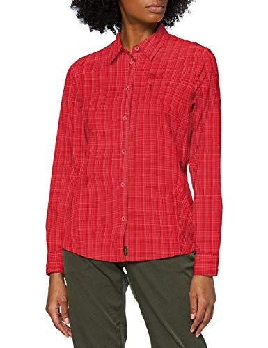 Jack Wolfskin Damen Centaura Flex Hemd, Scarlet Checks, XL
