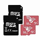ADROITLARK Micro sd Card 64GB 2 Pack microSD UHS-3 Memory Card for 4K Video/Phones/Laptop/Tablet(U3 64GB-2Pack)