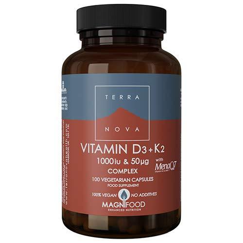 Terranova Vitamin D3 + K2 Complex - 1000iu & 50mcg - 100 Vegicaps