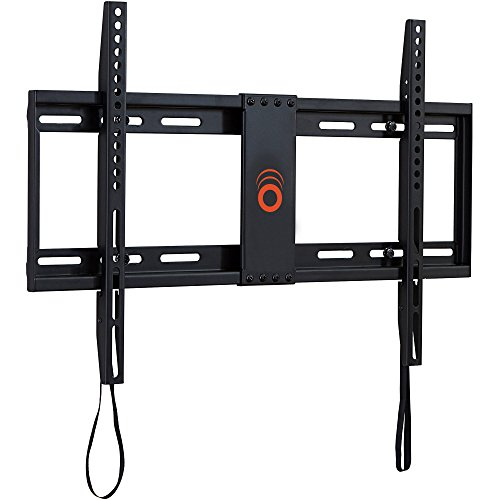ECHOGEAR Low Profile Fixed TV Wall Mount for TVs Up to 80' - Holds Your TV Only 1.25' from The Wall - Pull String Locking System for Easy Cable Access - Big Hardware Assortment for Simple Install