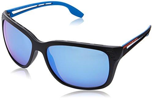 Prada SPORT 0PS03TS 1BO2E0 59 Montures de lunettes, Noir (Matte Black/Polardarkgreymirrorwater), Homme