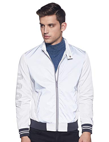 United Colors of Benetton Men's Quilted Jacket (19A2FSIC3004I_901_XL_Silver