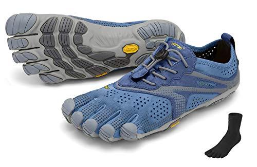 Fivefingers Vibram V-Run - Calcetines para mujer (talla: 39), color azul y azul