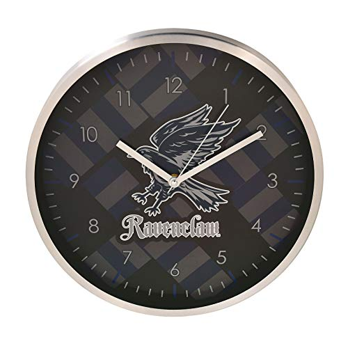 HARRY POTTER Reloj de Pared Ravenclaw Analógico Ø29,5cm Azul Gris