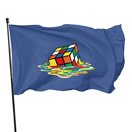 Shel Don Cooper – Bandera de Cubo de RU Bik, poliéster, 3 Banderas de 5 Pulgadas, poliéster, Negro, Talla única