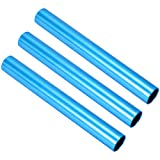 RAYNAG 3 Pack Track Relay Baton Aluminum Field Race Batons for Student Relay Events, Durable Batons, Blue