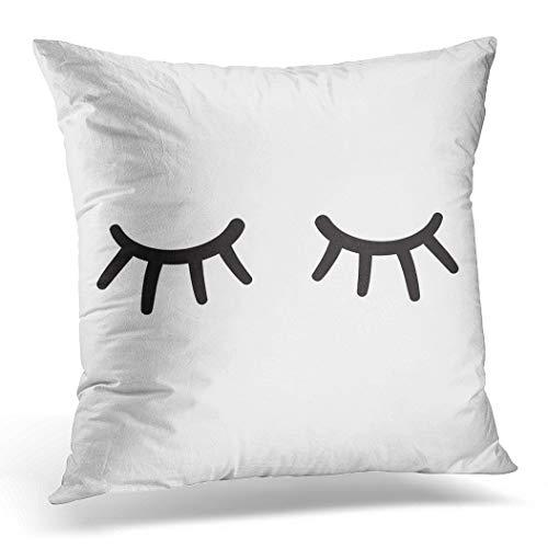 Topyee - Funda cojín diseño Ojos Cerrados, 45 x