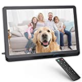 Digital Photo Frame FamBrow 8 inch Digital Picture Frame with HD IPS Display Photo/Music/Video Player Calendar Alarm Auto On/Off Timer Remote Control