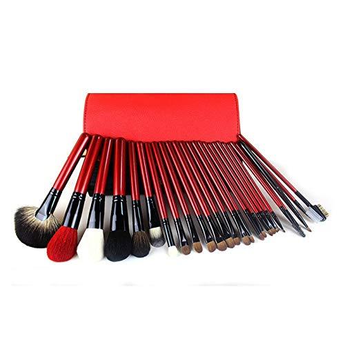 MEIMEIDA Facial Makeup Brush Makeup Tool Full Size Set Makeup Brush Soft And Comfortable Makeup Brush, Red