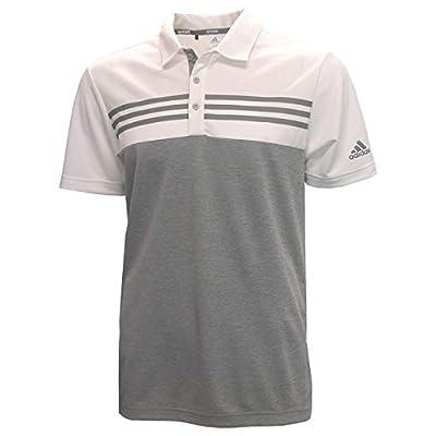 adidas Men's Heather Colorblock Golf Polo White/Grey M