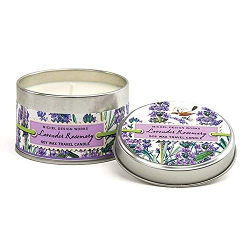 Michel Design Works Lavender Rosemary Soy Wax Travel Tin