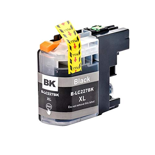 XIAOFANG Cartucho de Tinta Compatible Ajuste para LC227XL LC225XL LC227 LC225 Ajuste para Brother DCP-J4120DW MFC-J4420DW MFC-J4620DW MFC-J4625DW (Color : 1PCS Black)