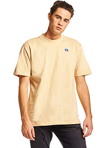 Russell Athletic Heritage Heritage Men's Baseliner Eagle R T-Shirt, Heavyweight-Almond, M