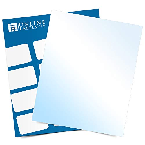 White Gloss Sticker Paper, 100 Sheets, 8.5 x 11 Full Sheet Label, Inkjet Printers, Online Labels