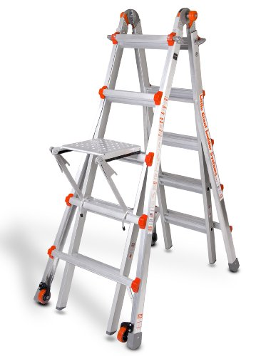 Product Image of the Little Giant Classic 10103LGW 300-Pound Duty-Rating Ladder System with Work Platform, 22-Foot