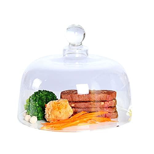 PETAAA Soporte para tartas, cúpula, de cristal transparente, redondo, cúpula de queso, para boda, cumpleaños, tartas, etc. Fácil de limpiar, 4 tamaños para tartas (tamaño 25 x 17 cm)