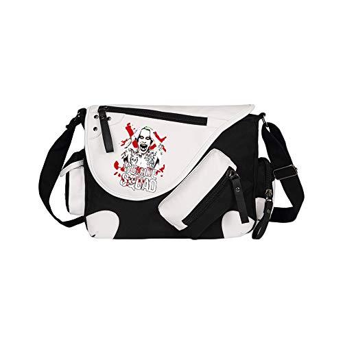 Suicide Squad School Bag Mochila de Colegio de Estilo Salvaje Bolso Mensajero Anime Bolso periférico Bolsa de Viaje Mochila Suicide Squad Mochila Impermeable (Color : A01, Size : 36 X 11 X 26cm)