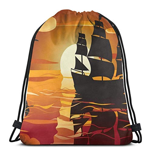 Lsjuee SeaDrawstring Backpack Sports Fitness Backpack Waterproof Men's and Women's Waist Bag Travel Yoga Beach School