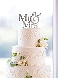 [USA-SALES] Mr and Mrs Sign, Bride And Groom Cake Topper Silver, Wedding Decorations