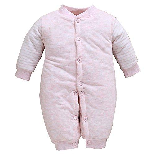 KINDOYO Bebé Unisexo Caída Pijamas Traje Mameluco para Niños Niñas Ropa Invierno Monos Jumpsuit Ropa de abrigo baby mameluco , Rosa