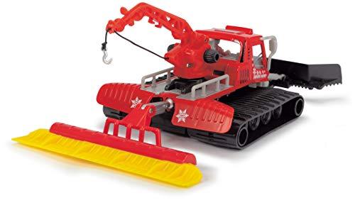 Dickie Toys 203783002 Pistenraupe, Schneeraupe, Snow Hero, bewegliche Teile, 23 cm groß, rot/schwarz