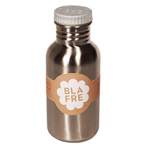Blafre Edelstahl Trinkflasche Deckel hellgrau 500 ml