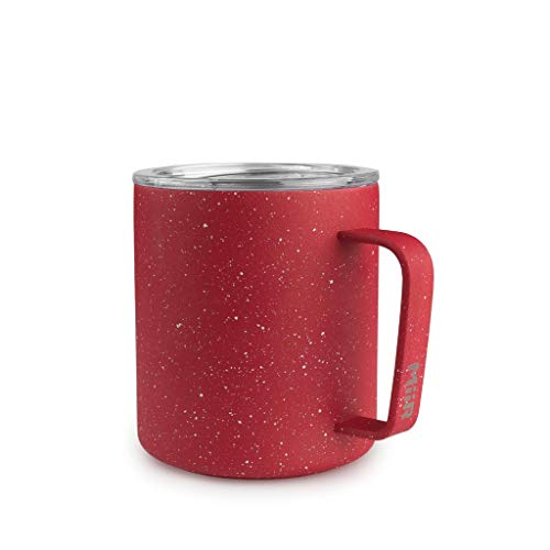 MiiR 12oz Insulated Camp Cup for Coffee or Tea in The Office or Camping - Red Speckled