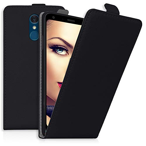 mtb more energy® Flip-Hülle Tasche für LG Q7+, Q7 Plus (5.5'') - Schwarz - Kunstleder - Schutz-Tasche Cover Hülle