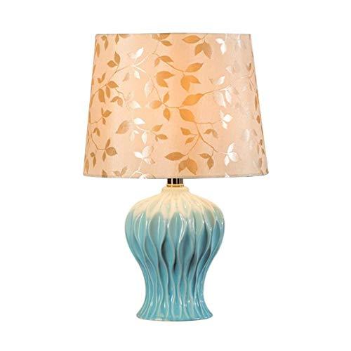 YWSZJ Lámpara de Mesa, lámpara de cabecera del Dormitorio de la Sala de decoración de cerámica Creativa lámpara de Mesa