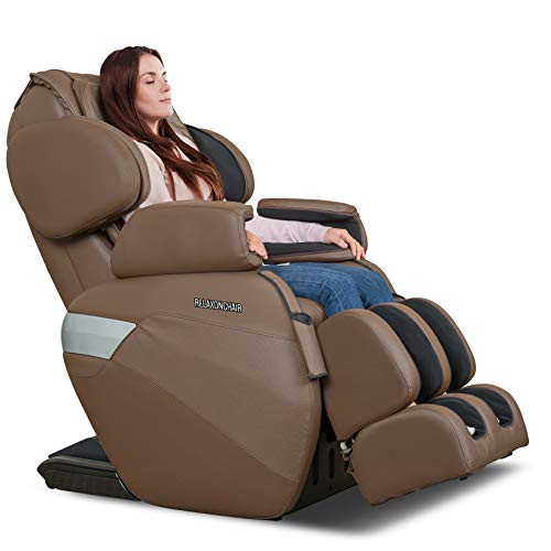 RELAXONCHAIR [MK-II Plus] Full Body Zero Gravity Shiatsu Massage Chair with Built-in Heat and Air Massage System - Chocolate