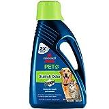 BISSELL 2X Pet Stain & Odor Full Size Machine Formula, 60 ounces, 99K5A, Pet Carpet Shampoo